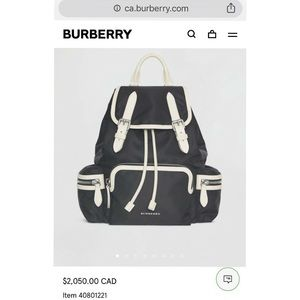 Burberry Bags - SALE!Like NEW Authentic Burberry Rucksack backpack